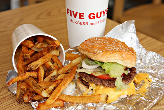 five guys burgers and fries restaurant